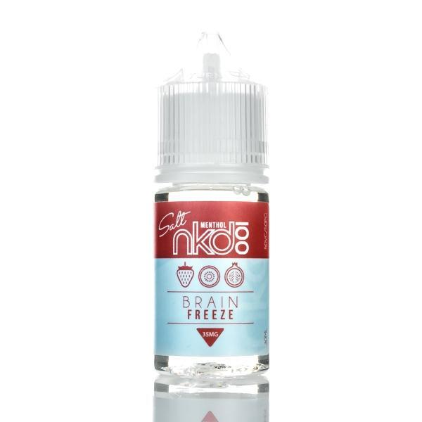 Naked 100 Imported Salt Nicotine E-Juice (US) 35mg Nkd 100 (US) - Brain Freeze (salt e-liquid)