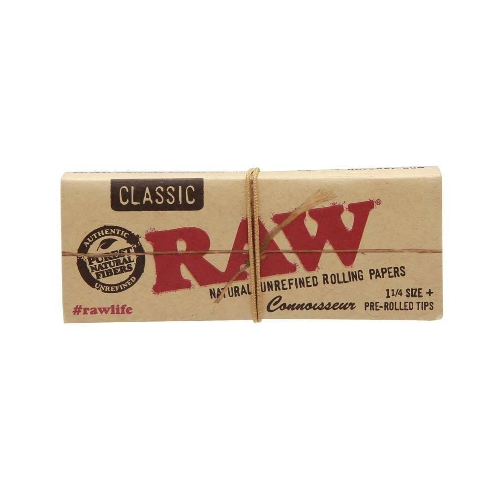 RAW MJ Accessories 1 Booklet RAW - Classic Connoisseur 1 1/4 Paper with Tips