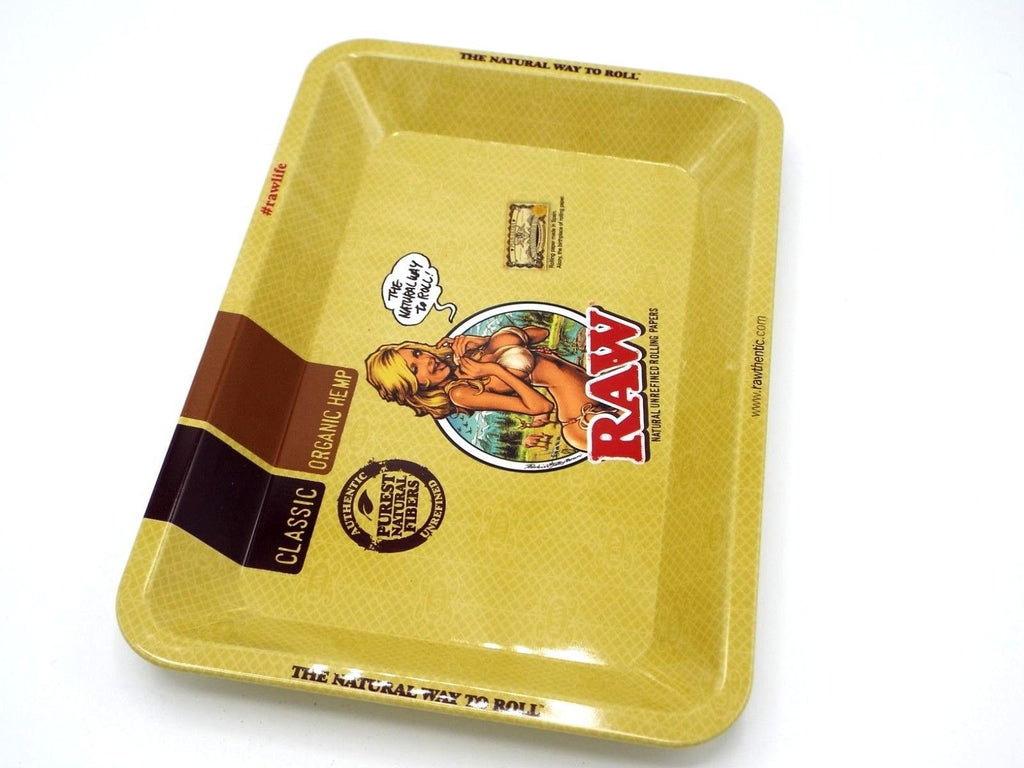 RAW Smoking accessories RAW - Metal Tray Girl Design
