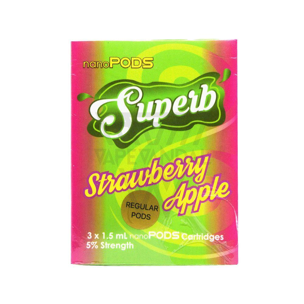 Superb - Strawberry Apple nanoPODS Cartridge - Vape Vandal - Malaysia's #1 vape e-juice store