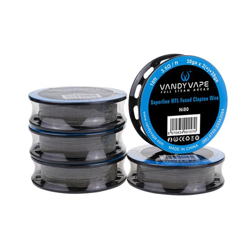 Vandy Vape Accessories Ni80 Vandy Vape - Superfine MTL Fused Clapton Wire Ni80 (FREE SHIPPING)
