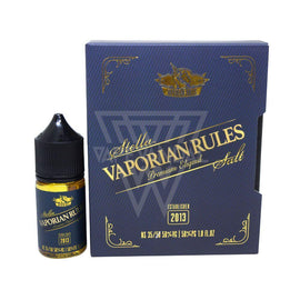 Vaporian Rules Local Salt Nicotine E-Juice 35mg Vaporian Rules - Stella Salt Nicotine
