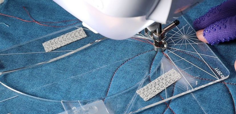How easy is ruler quilting on the home sewing machine?