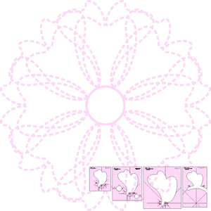 DM QUILTING - Ribbons & Bows & Wreath Template Set