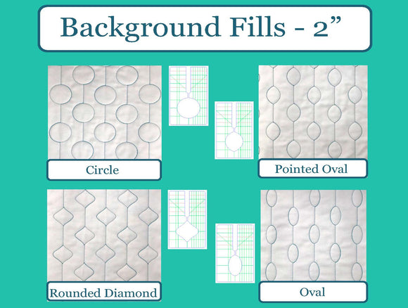 SEW BIZ – BACKGROUND FILLS 4PC SET 2″ DESIGNS