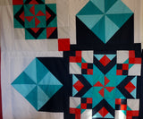 Cracker Jack Quilt Along blue colour way