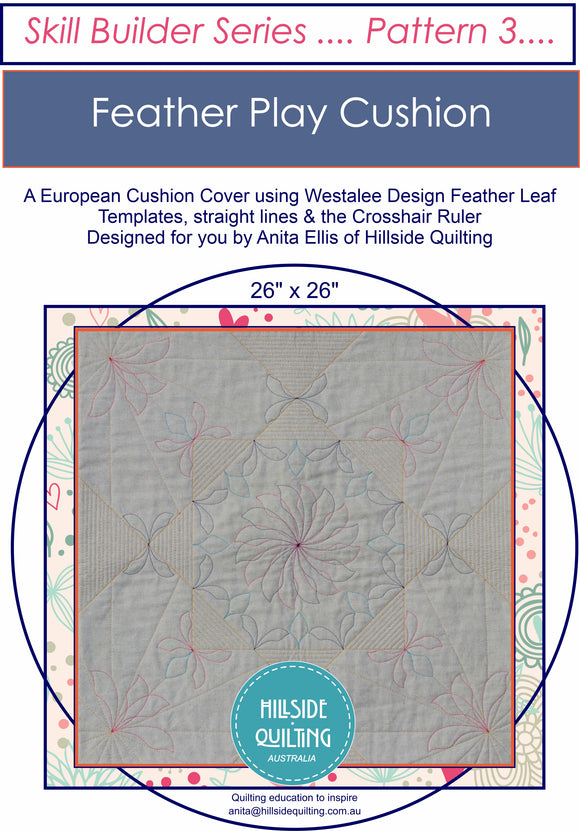 Feather Play Cushion; Pattern 3 in the Skill Builder Series