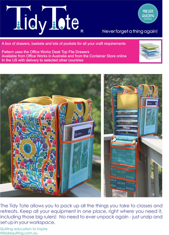 Tidy Tote pattern using the Office Works Drawer set from Australia, also from Container Store online in US and selected countries