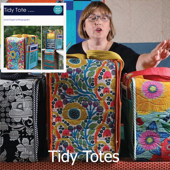 Tidy Tote ONLINE CLASSES with bundled PDF patterns in all sizes