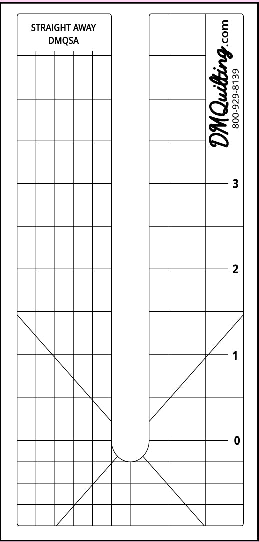 DM QUILTING - Straight Away Template