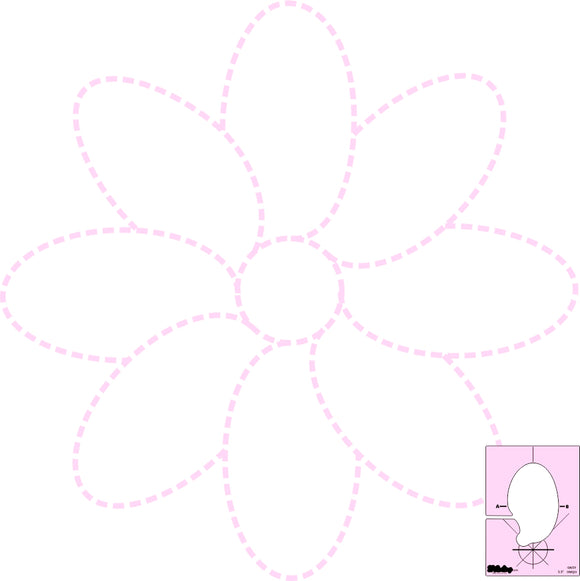 DM QUILTING - Daisy Template