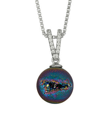 Silver necklace with zirconia stones icecold silver necklace with zirconia stones made in iceland northern lights collection icecold aloadofball Choice Image