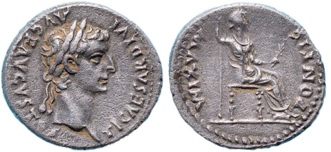 "Roman Empire, Tiberius (14-37), ""Tribute Penny"" of Lugdunum"