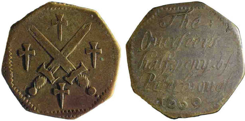 Northamptonshire (104), Peterborough, The Overseers, Halfpenny, 1669