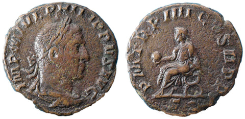 Roman Empire, Philip I (244-249), As, Philip on rev., RCV 9056