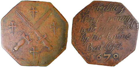 Northamptonshire (107, N.3432), Peterborough, Town Bailiff, Halfpenny, 1670