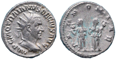 Roman Empire, Trajan Decius (249-251), Antoninianus, two Pannoniae on rev.