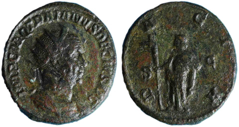 Roman Empire, Trajan Decius (249-251), Dupondius, Dacia on rev.