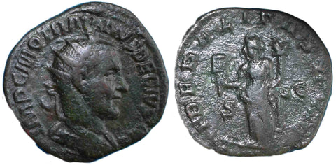 Roman Empire, Trajan Decius (249-251), Dupondius, Liberalitas on rev.
