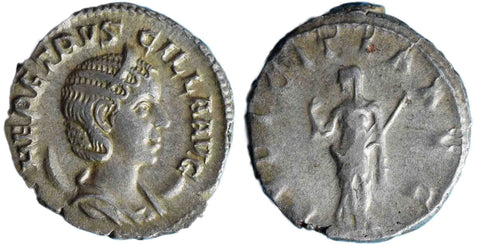 Roman Empire, Herennia Etruscilla, Antoninianus, Pudicitia on rev.