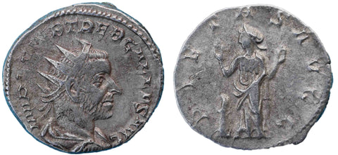 Roman Empire, Trebonianus Gallus (251-253), Antoninianus, Pietas on rev.