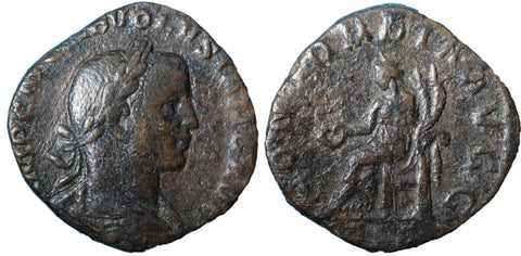 Roman Empire, Volusian (251-253), Sestertius, Concordia on rev.