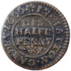 London (1318), Hatton Garden, John Ball, Halfpenny, 1666