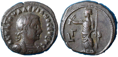 Roman Empire, Valerian (253-260), Tetradrachm of Alexandria.