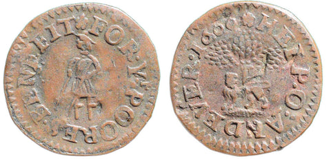 Hampshire ( 14, N.1804), Andover, Borough Farthing, 1666