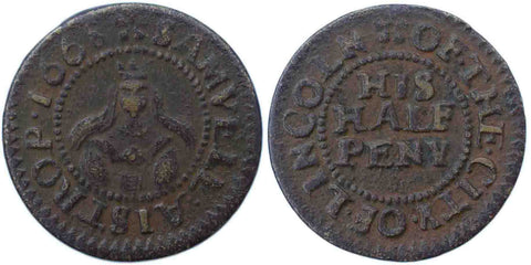Lincolnshire (141), Lincoln, Samuell Aistrop, Halfpenny, 1668