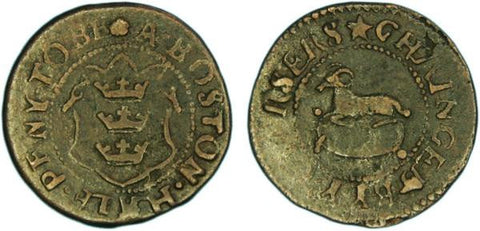 Lincolnshire ( 15, Norweb 2910), Boston, Halfpenny of the Overseers