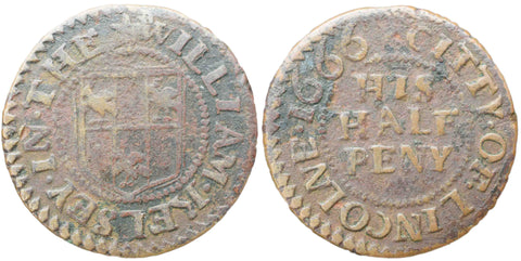 Lincolnshire (151), Lincoln, William Kelsey, Halfpenny, 1666
