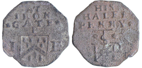 London (1544), Irongate, I.P., Octagonal Halfpenny