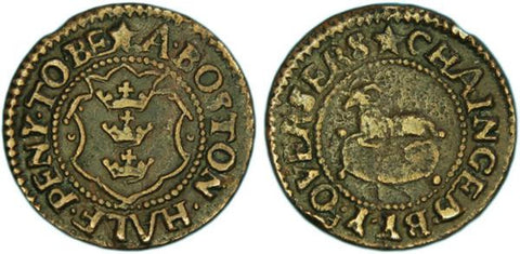 Lincolnshire ( 15A, Norweb 2909), Boston, Halfpenny of the Overseers