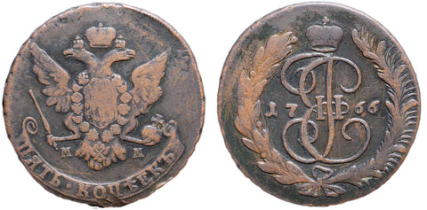 Russia, 1766, 5 Kopecks MM