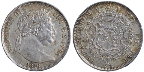 S.3788. George III (1760-1820), Halfcrown, 1816