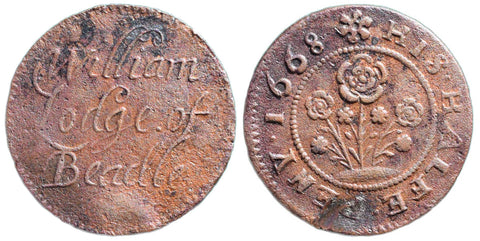 Yorkshire ( 18), Bedale, William Lodge, Halfpenny, 1668