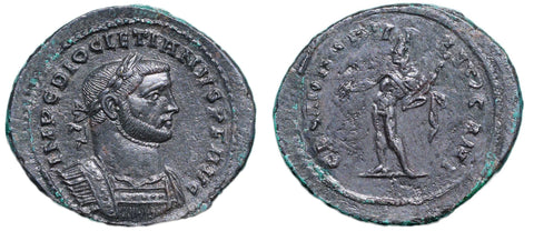 Roman Empire, Diocletian (284-305), Follis of London, GENIO POPVLI ROMANI