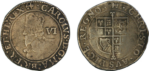 S.2814. Charles I (1625-1649), Sixpence, Group E.