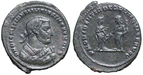 Roman Empire, Diocletian (284-305), post-abdication issue, Follis of London, PROVIDENTIA DEORVM QVIES AVGG