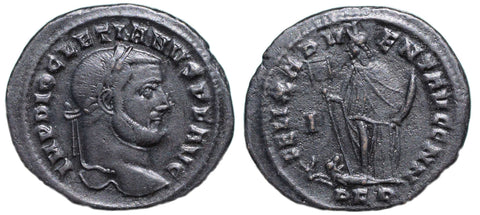 Roman Empire, Diocletian (284-305), Follis of Carthage, FELIX ADVENT AVGG NN