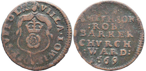 Suffolk (225), Lowestoft, Town Farthing, 1669