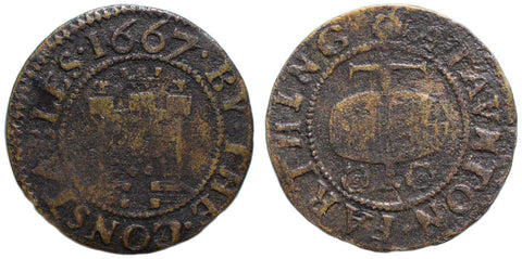 Somerset (227), Taunton, Farthing of the Constables, 1667
