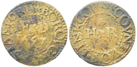 Lincolnshire (242), Stamford, Borough Farthing (F.D. & H.R.), 1657