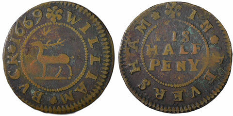 Kent (266), Faversham, William Buck, Halfpenny, 1669