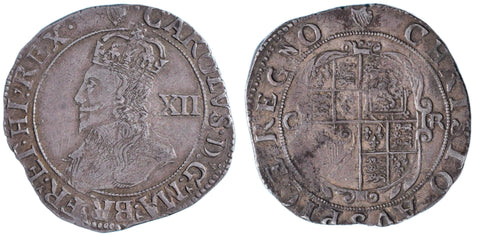 S.2789. Charles I (1625-1649), Shilling, Group D, attractive portrait.