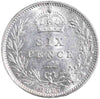 S.3929. Victoria (1837-1901), Sixpence, 1887, Jubilee Head, Wreath Type