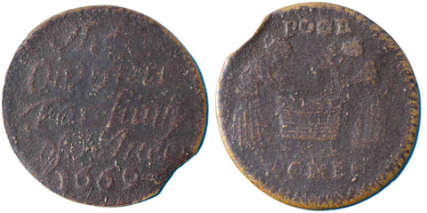 Huntingdonshire (34), St Ives, Overseers, Farthing, 1669