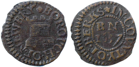 Berkshire ( 52, N.118), Newbury, Borough Farthing, 1657