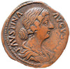 Roman Empire, Faustina Junior under Marcus Aurelius (161-175), Sestertius, Hilaritas on rev.